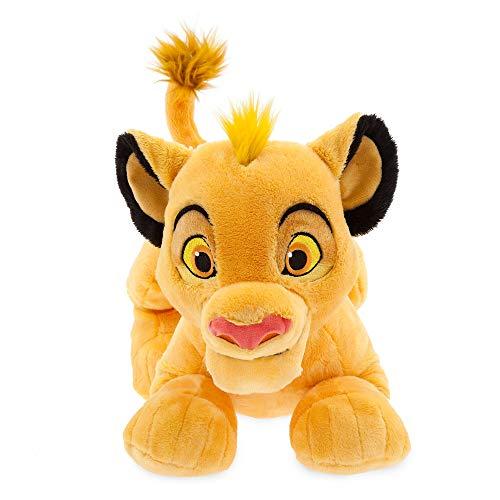 """Disney Store Stofftier Simba, König der Löwen, 41 cm / 16\"""", aus weichem Plüschmaterial mit Stickereien und flauschigem Schwanz, für alle Altersstufen geeignet"""