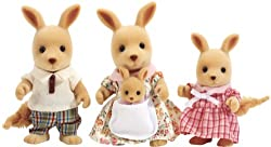 Kangaroo posable collectable figures Four piece set: Father, mother, sister and little baby Dressed in removable fabric clothing Kangaroo mother is owner of toy shop Suitable for ages 3 years to 10 years