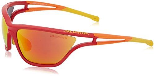 ALPINA Fahrradbrille Eye-5 CM, Red/Orange/Yellow, One size