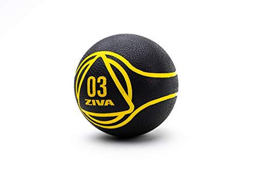 ZIVA Medicine Ball 3 Kg Balón Medicinal, Unisex Adulto, Negro, Talla única