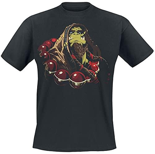 World of Warcraft Thrall - Son of Durotan Hombre Camiseta Negro XL, 100% algodón, Regular