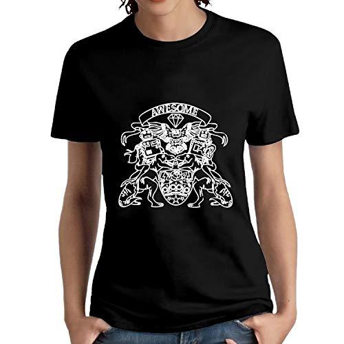 NITHG Dames Womens T Shirts-Tattoo Crest Aangepaste T Shirt korte mouwen T-shirt Blouse