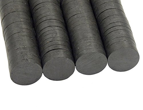 Perlin 100x Ferritmagnet Rundmagnete 17mm x 3mm Basteln Werkeln Basteln und Dekorieren Magnet für Kühlschrank Pinnwand Memoboard Whiteboard DEK83 x4