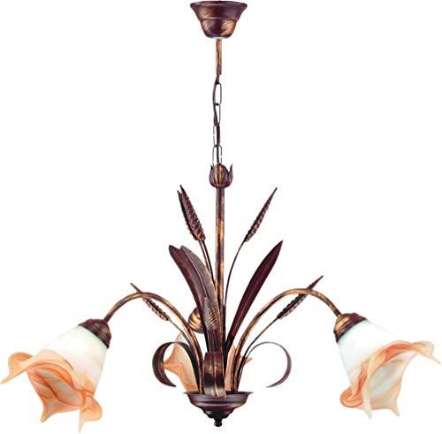 Lampex 020/3Kłos lampadario, metallo, bianco, E27