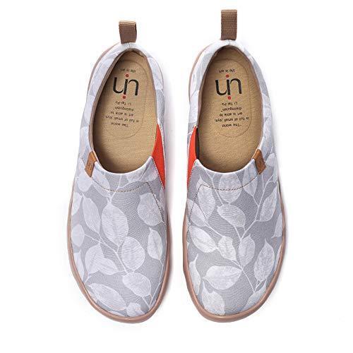 UIN Männer leidenschaftliche Flomar Fashion Art Sneaker bemalte Leinwand Slip on Man Loafers Reiseschuhe (45)