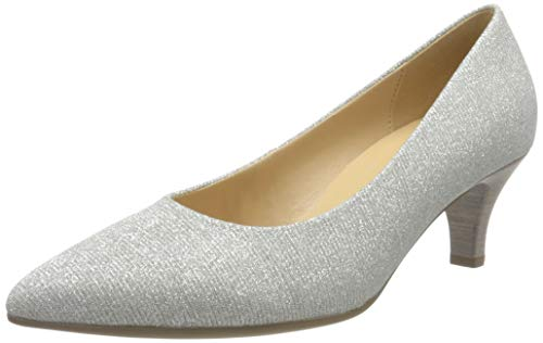 Gabor Shoes Damen Fashion Pumps, Silber (Silber 61), 37 EU