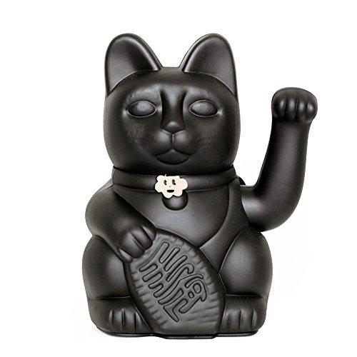 Gatete. El clásico Gato de la Suerte o la Fortuna o Maneki-Neko en divertidos colores. NEGRO: