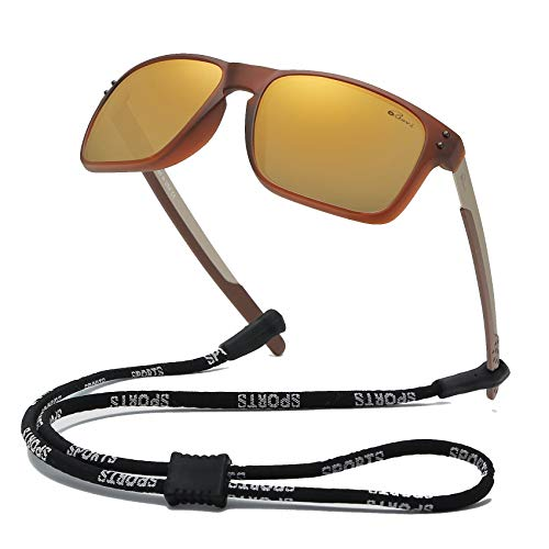 Bevi Polarized Sports Sunglasses Square Glasses for Men Women Running Cycling Fishing Golf Baseball 2556C7