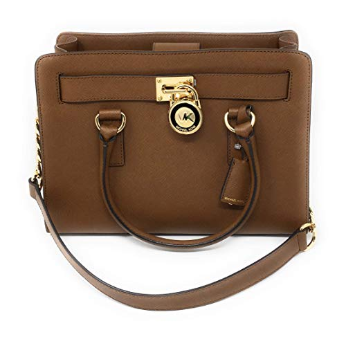 """Saffiano leather with gold tone hardware. Measures approximately: 9.5"""" Top"""" L x 7.2""""H x 3.5""""D. detachable crossbody strap 19""""-24"""" adjustable. Insider: 1 Interior zip pocket and 3 slip pockets. Exterior: 1 slip pockets."""