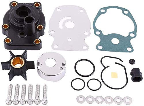 YoHa Water Pump Repair Kit with Housing for Johnson Evinrude OMC BRP (1980-UP) 20 25 30 35HP 393630 0393630 Sierra 18-3382 20/25/30/35HP Replacement