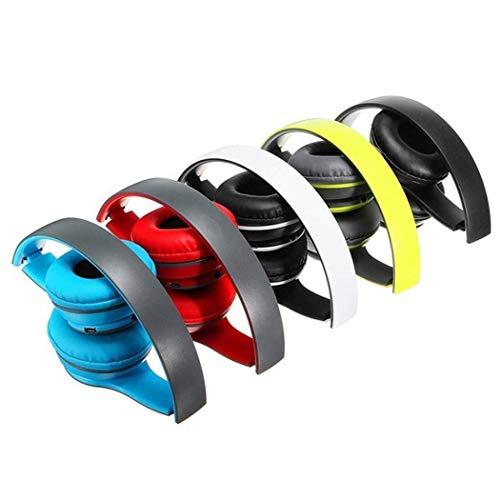 Faus Koco Auriculares Bluetooth inalámbricos Bluetooth auriculares estéreo cómodos auriculares Bluetooth para teléfonos celulares y accesorios (color blanco)