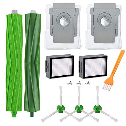 HoHome Kit di Ricambi Compatibile per iRobot Roomba i7 i7+ i7 plus E5 E6 E7 Aspirapolvere, Accessori Spazzole Filtri di Ricambio Kit 13 in 1