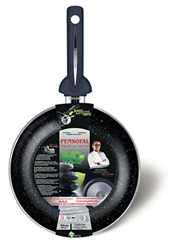 Pensofal Biostone Sartén, Cuerpo en Aluminio, Negro, 24 cm