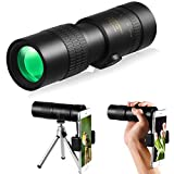 MASALING 4K 10-300x40mm Super Viewing Telescope Waterproof and Anti-Fog Night Vision Monoculars, Equipped with a Smartphone Holder and a Tripod, for Camping, Traveling and Hiking