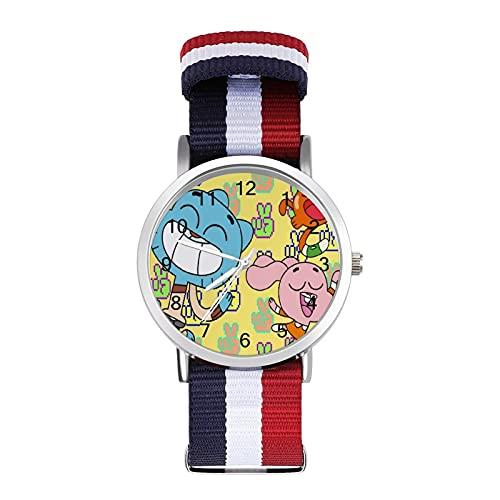 Amazing World of Gumball Reloj de ocio para adultos, moderno, hermoso y personalizado aleación Shell casual reloj deportivo para hombres y mujeres