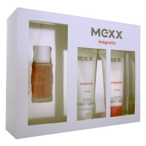 Mexx Magnetic Woman Giftset EDT Spray 15ml, Shower Gel 50ml und Body Lotion 50ml, 1er Pack (1 x 115 ml)