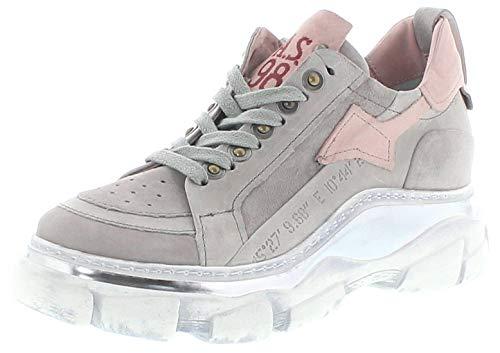 FB Fashion Boots A.S.98 Damen Turschuhe 587104 Grigio Lederschuhe Low Sneaker Grau 38 EU inkl. Schuhdeo