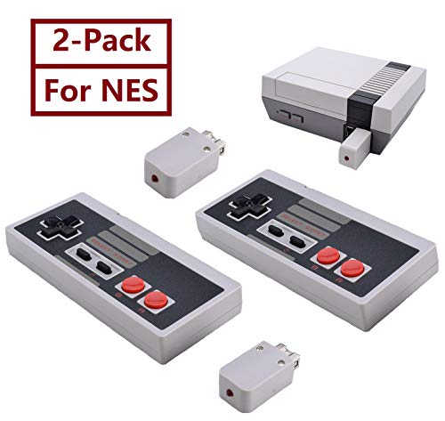 2 Pack NES Wireless Controller, TANKEY NES Classic Controller Wireless for Nintendo Classic Mini Edition and PC