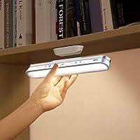 【2021年バージョンアップ版 デスクライト】Baseusマグネット付き LED 目に優しい読書灯充電式ライトデスク ナイトライト・80°角度調節可能・3段階/無段階調光と調色 読書/勉強/仕事