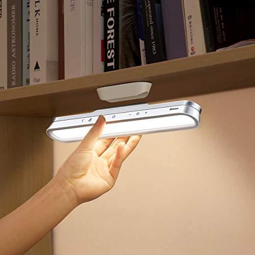 2021 Flexo LED de Escritorio, Baseus Lámparas de mesa táctil, Luz lectura con atenuación continua, Lampara de escritorio Magnético inalámbrica con carga de batería,iluminación debajo del gabinete