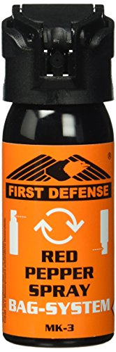 First Defense Herren Abwehrspray RED Pepper Bag System MK-3, 09FD009, mehrfarbig, One Size