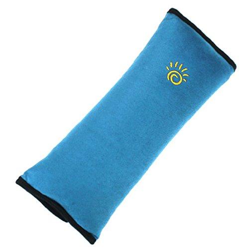 Sannysis - Imbottitura per cintura di sicurezza, accessorio auto per bambino/cuscinetto di protezione per collo e spalla, colore: azzurro