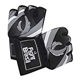 Luvas de MMA Grappling - Dedão Livre - Cinza - P - Par