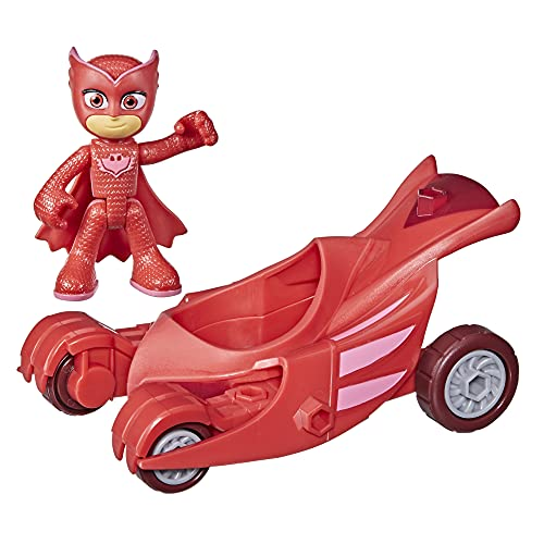 PJ Masks Owl Glider Preschool Toy, Owlette Car with Owlette Action Figure for Kids Ages 3 and Up