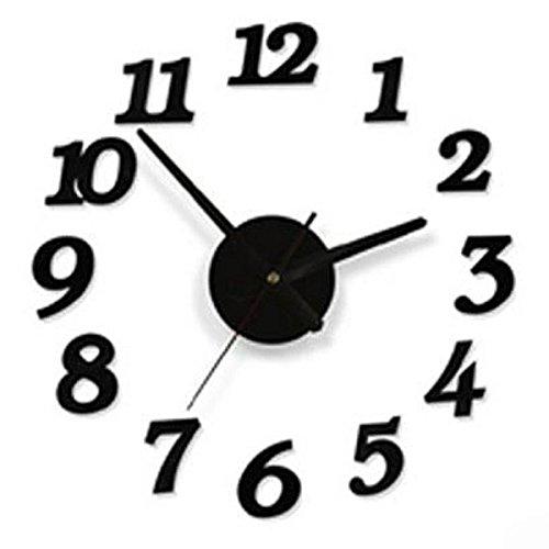 1stモール 組立式 アート時計 壁面取り付け 簡単 クロック インテリア 小物 壁掛け (Aタイプ) ST-DIYCLOCK-A