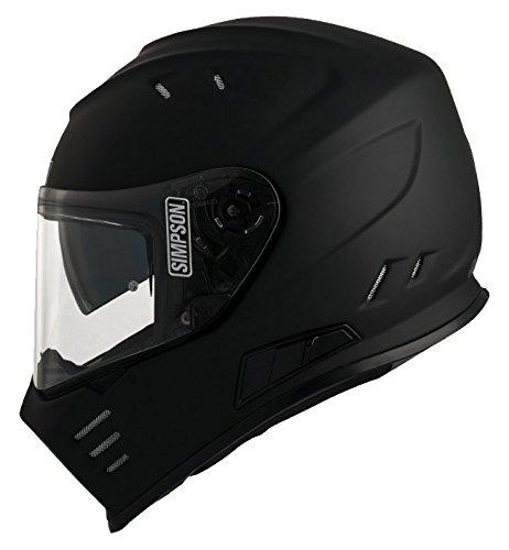 Unbekannt Simpson Helmet Venom 58-M, Matt Schwarz, Größe M