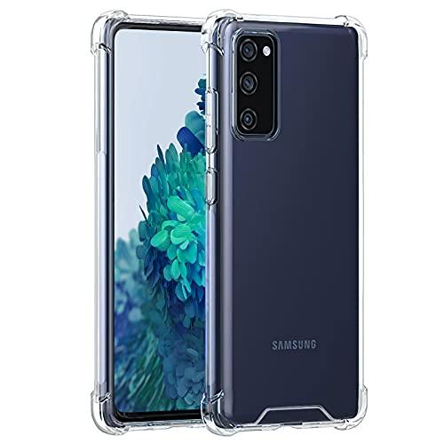 Seomusen Ultra Crystal Hülle Kompatibel mit Samsung Galaxy S20 FE/S20 FE 5G [Anti Gelb] [Verstärkter Fallschutz] HD Transparent Weich TPU Bumper und PC Back Handyhülle Stoßfest Silikon Schutzhülle