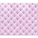 murando - Fototapete Leder-Optik 300x210 cm - Vlies Tapete - Moderne Wanddeko - Design Tapete - Wandtapete - Wand Dekoration - Diamant Rosa f-C-0097-a-a