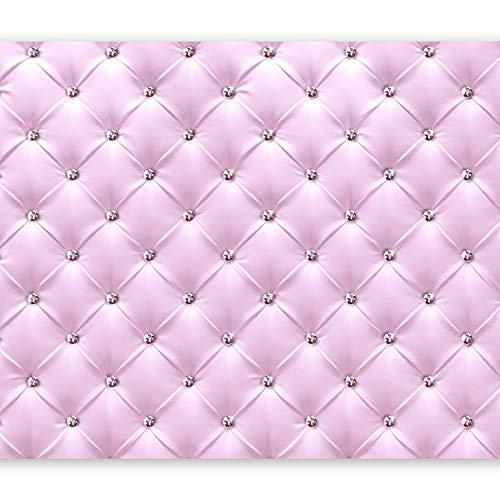 murando Fotomurales 400x280 cm XXL Papel pintado tejido no tejido Decoración de Pared decorativos Murales moderna de Diseno Fotográfico Cuero Diamante Rosa f-C-0097-a-a