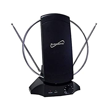 SuperSonic SC-605 HDTV Digital Amplified Indoor Antenna - Supports 1080p and 720p Noise Reduction FM Reception - 47-860 MHz