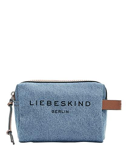 Liebeskind Berlin Gray Cosmetic Pouch, blue denim , Small (HxBxT 14.0 cm x 20.0 cm x 9.0cm)