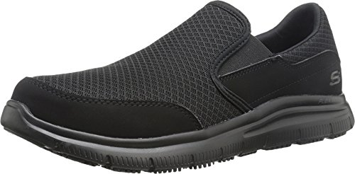 Skechers Men's Black Flex Advantage Slip Resistant...