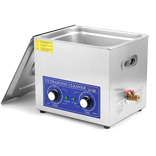 Ultraschallreiniger Reiniger Ultraschall Ultrasonic Cleaner Ultraschallreinigungsgerät Edelstahl mit Digitaler Anzeige für Schmuck Brillen und Zähne,40KHZ (10L-240W-0-30min Zeiteinstellung)