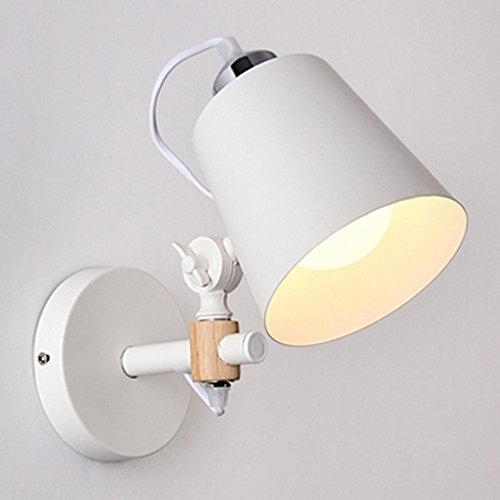 Nordeuropa Holz Wandlampe American Iron Kunst Massivholz Modern Einfache Kunst Nachttischlampe Holzinnentreppe Ganglicht