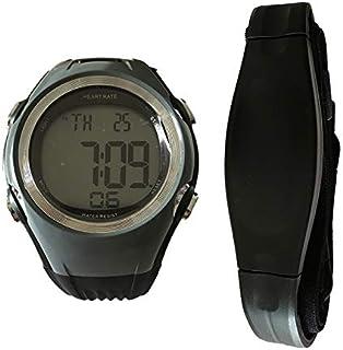 LINGJIA Pulsómetros Monitor De Ritmo Cardíaco Relojes Polares Deportivos Impermeable Digital Inalámbrico Correr Ciclismo Correa para El Pecho Cinturón Hombres Mujeres Reloj Deportivo/Gris
