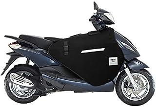 Compatible avec Piaggio XEVO 125 2010 10 Tablier Etanche OJ JFL-TF Couverture Thermique pour Scooter avec Doublure DOUBL/ÉE ET Cheveux SYNTH/ÉTIQUES Pro Leg Noir