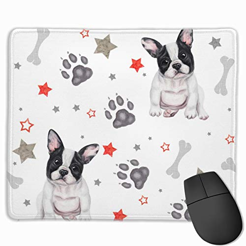 Mouse Pad French Bulldog Print Non-Slip Rubber Mousepad Personality Desings Gaming Mouse Pad Home Office Computer