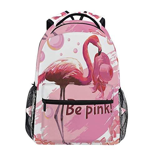 College Tas Tropische Flamingo Zoete Snoepjes Gedrukt Mode Jongen School Tas Laptop Speciale Rugzak Casual Print Lichtgewicht Student Reizen