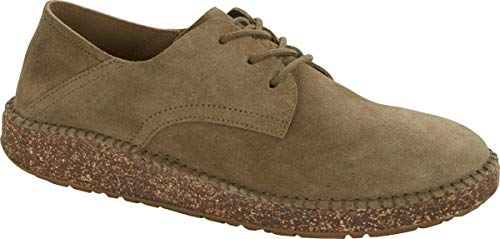 Birkenstock Gary Suede Faded Khaki Lace-up Shoes (US W 11)