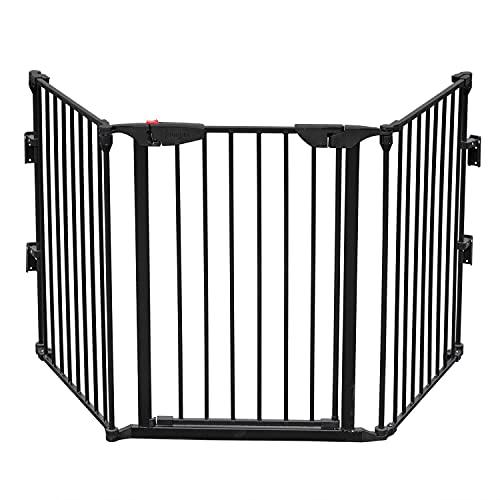 Bonnlo 185 cm Configurable Walk-Through Tall Baby Safety Gate, Black