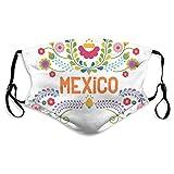 Mexikanische Blumenelemente Mexiko Frauen Männer Lustiges