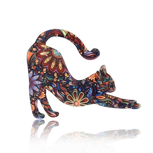 Dibujos animados lindo gato serie Broches acrílico Broches Pins ropa collar solapa Pin bolsa Metal Pin joyería decorativa para amante-2