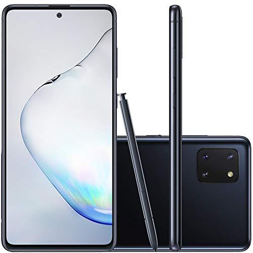 Celular Samsung Galaxy Note 10 Lite Preto 6Gb 128Gb Caneta S Pen Câmera 12Mp+12Mp+12Mp