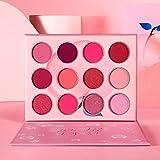 DE'LANCI Pink Eyeshadow Palette,12 Colors Peach Matte & Shimmer High Pigmented Mini Makeup Eyeshadow Pallet,Warm Natural Blendable Long-Lasting Waterproof Small Pallets Eyeshadow