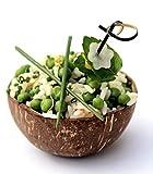 CANAPE KING   5 cuencos de coco reutilizables naturales de 2,7 '(7 cm)   Tazas pequeñas para servir hechas a mano ecológicas, ideales para fideos, batidos, acai, buddah, gachas, cereales, regalo