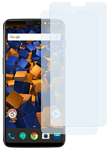 mumbi Schutzfolie kompatibel mit OnePlus 6 Folie klar, Bildschirmschutzfolie (2x)